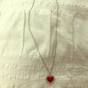 Heart Swarovski silver necklace